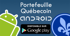 Portefeuille Québecoin Android disponible sur Google Play